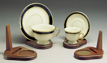 Cup And Saucer Holders Wood Teacup And Plate Stand