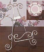 Iron Silver Finish Plate Easel Stand