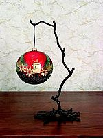 Wrought Iron Twig Ornament Stands