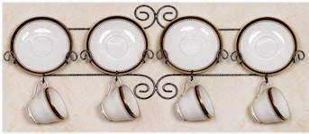 Display Accessories - Cup and Saucer Racks, Teacup and Saucer Hangers