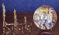 Ornate Brass Plate Stands