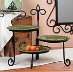 Keller 3 Place Swivel Plate Stand