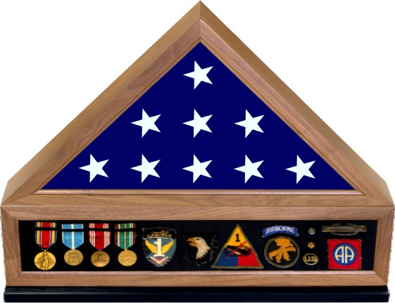 Display Cases & Display Accessories - Flag Cases, Flag Keepsake Boxes, Glass Top Flag Boxes