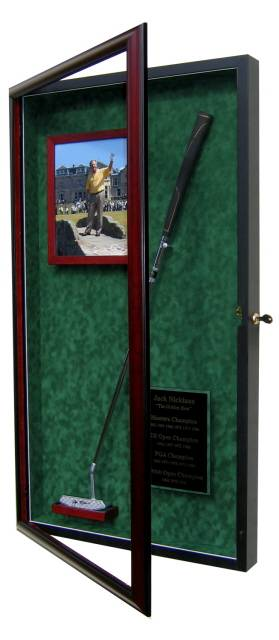 Golf Putter Display Case With Photo Frame Amp Name Plate