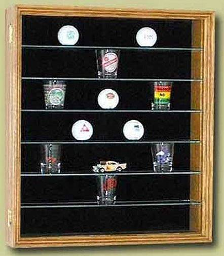 Golf Ball Display Case - Glass Shelves