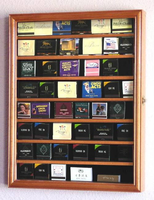 Matchbook Display Case - 48 Books