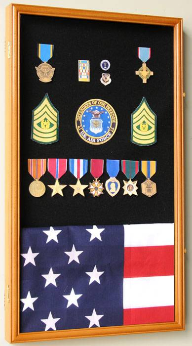 Display Case Medals Pins Or Patches Large Military