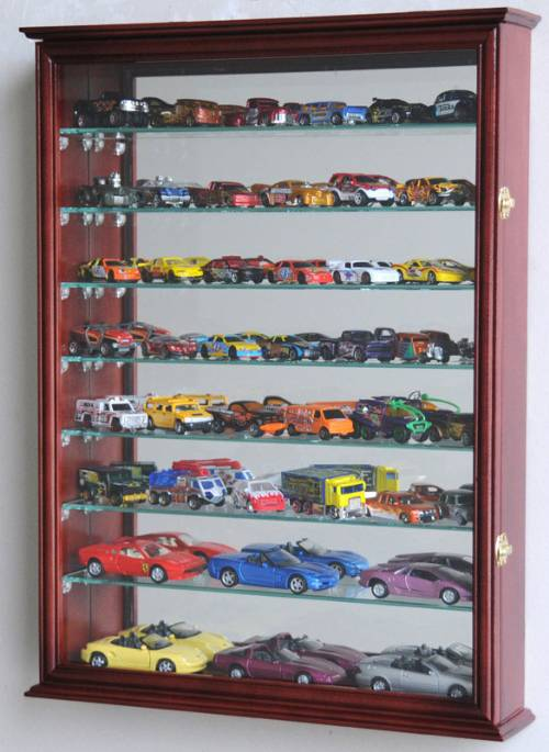 Diecast Collector Cases Mirrored Back Large Curio