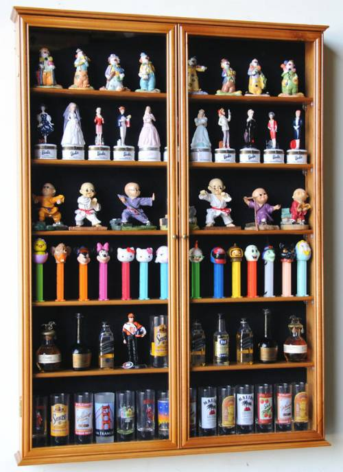 Display Shelves For Collectibles >> Shotglass Collector Case - Tall Shot Glass/Mini Liquor ...