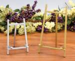 Plate Easels - Brass & Silver Finish Plate Stands
