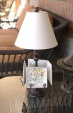 Mini Plate Lamp - Antique Black