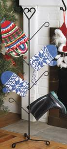 Stocking Hanger Stand - Decorative Wrought Iron