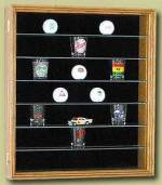 Shot Glass Display Case - Glass Shelves