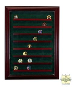 Challenge Coin Display Case - 64 Coin