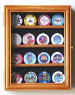 Collectibles Display Case - Casino Chip Four Row