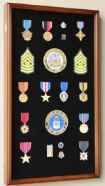 Display Case - Medals, Pins, or Patches - Large