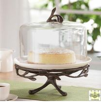 Domed Dessert Stand Cloche - Twig Collection