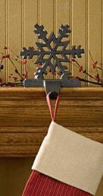 Stocking Holders - Rustic Snowflake