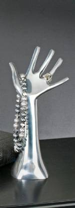 Jewelry Display - Polished Aluminum Hand