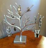Jewelry Display Tree - Natural Design Polished Aluminum