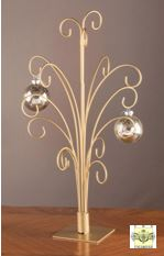 Ornament Trees - Gold Metal Ornament Stand