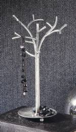 Jewelry Display Tree - Silver Foil Jewelry Tree with Tray