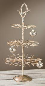 Ornament Tree - Three Tier Brushed Gold