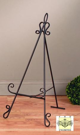Platter Stands - Elegant Scroll Display Easels - Set of 2