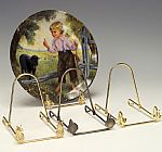 Plate Easels - Polished Brass Plate Stands