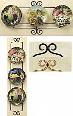 Plate Hangers - Wrought Iron Three Place