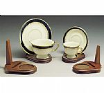 Cup and Saucer Holders - Wood - Teacup and Plate Stand