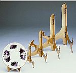 Plate Easels - Hinged - Solid Brass