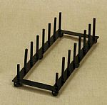 Plate Holders - Black Iron- Tabletop Seven Place