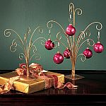 Ornament Trees - Gold Metal Ornament Trees