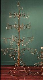 "Ornament Trees - Regent Display Tree 69"" Gold - Large"