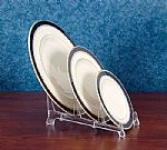Plate Holders - Lucite Three Place