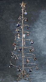 Ornament Trees - Spiral Wire Ornament Tree