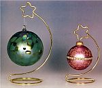 Ornament  Stands - Brass Star Topped