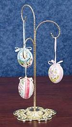 Ornament Hangers - Filigree Base Three Arm