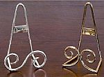Plate Holders -  Standing or Hanging Plate Easels