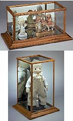 Glass Doll Cases and Curio Cabinets
