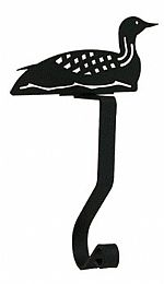 Wrought Iron Stocking Hangers - Loon
