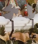 Wrought Iron Stocking Hangers and Hooks