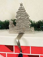 Stocking Hangers -Christmas Silver Tree