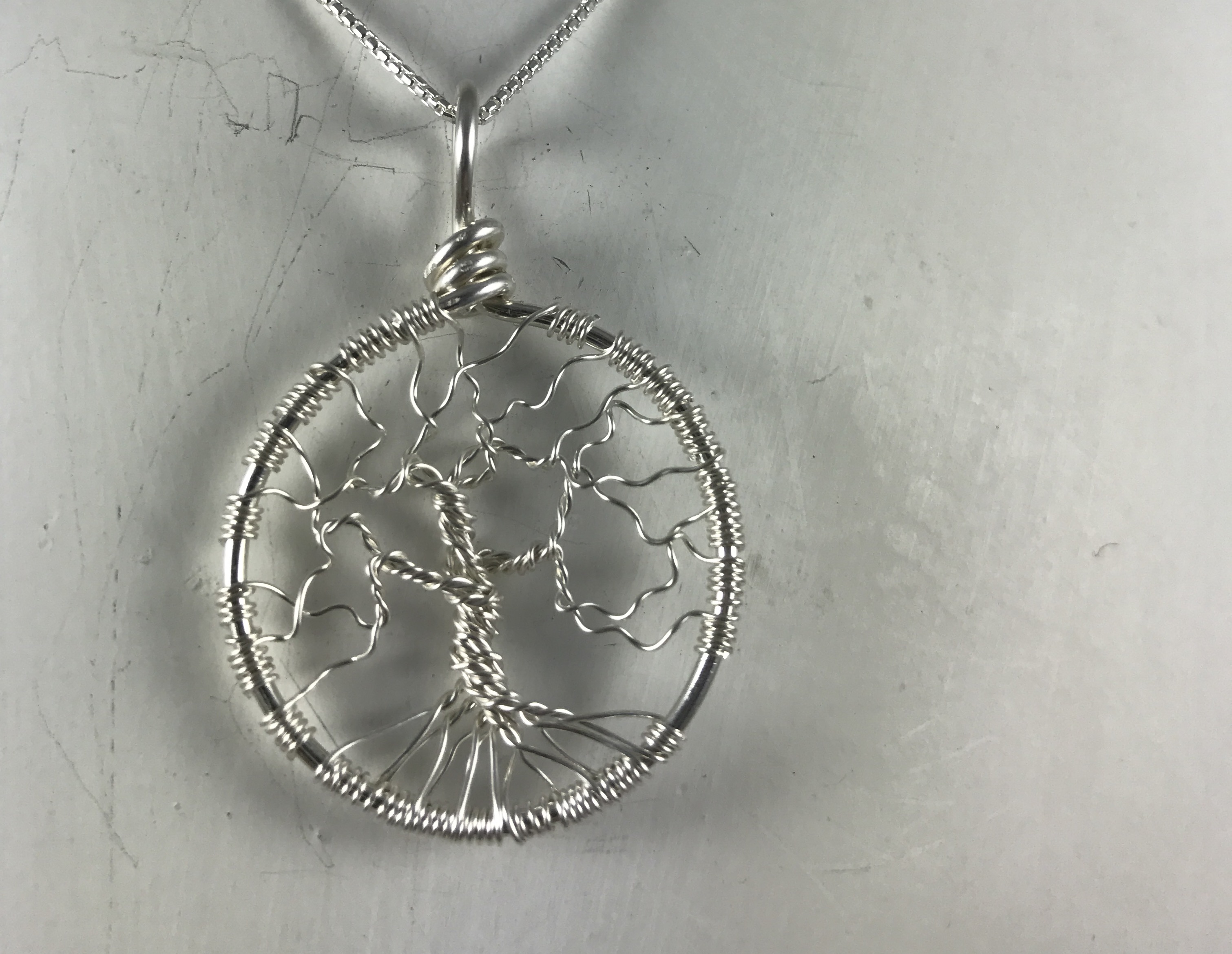 Creative Expressions - Tree of Life Pendant - Silver Wire
