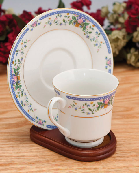 Cup And Saucer Holders Wood Teacup And Plate Stand Set Of 12