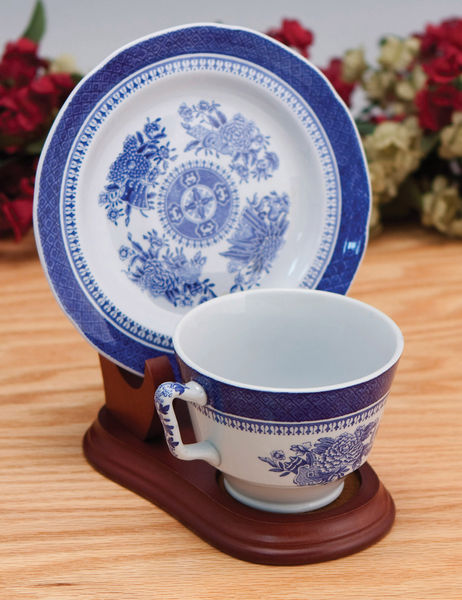 Cup And Saucer Holders Set Of 12 Wood Tea Cup And Plate Stand