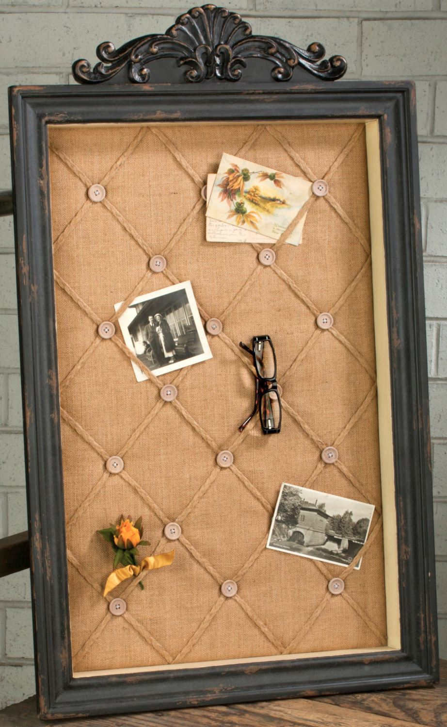 Photo Holders - Antique Black Wall Memo Board