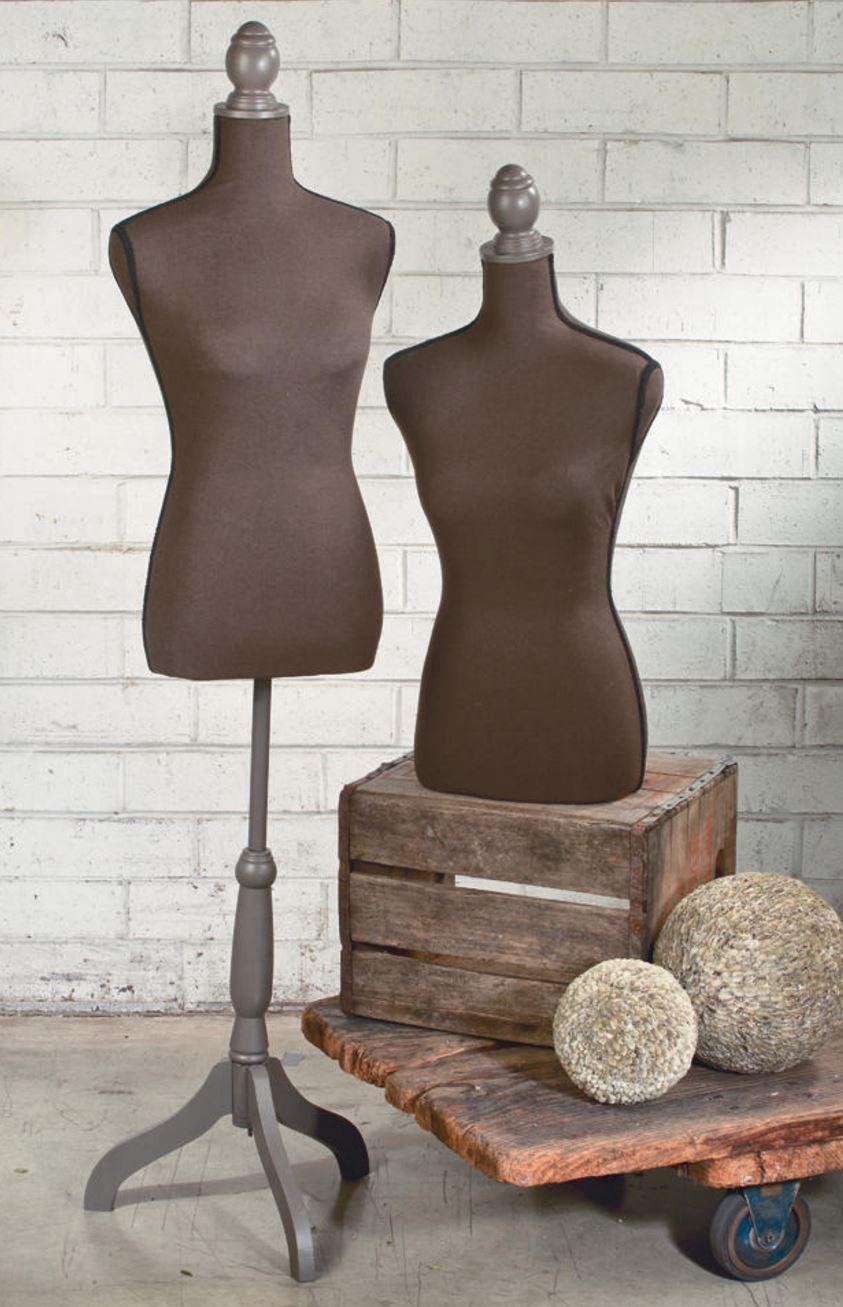 Brown Linen Floor Standing Top Body Form Body Form Displays