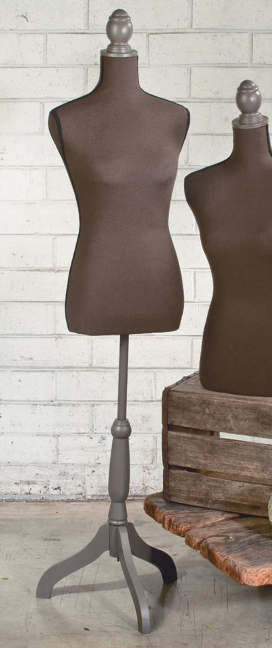 Brown Linen Floor Standing Top Body Form